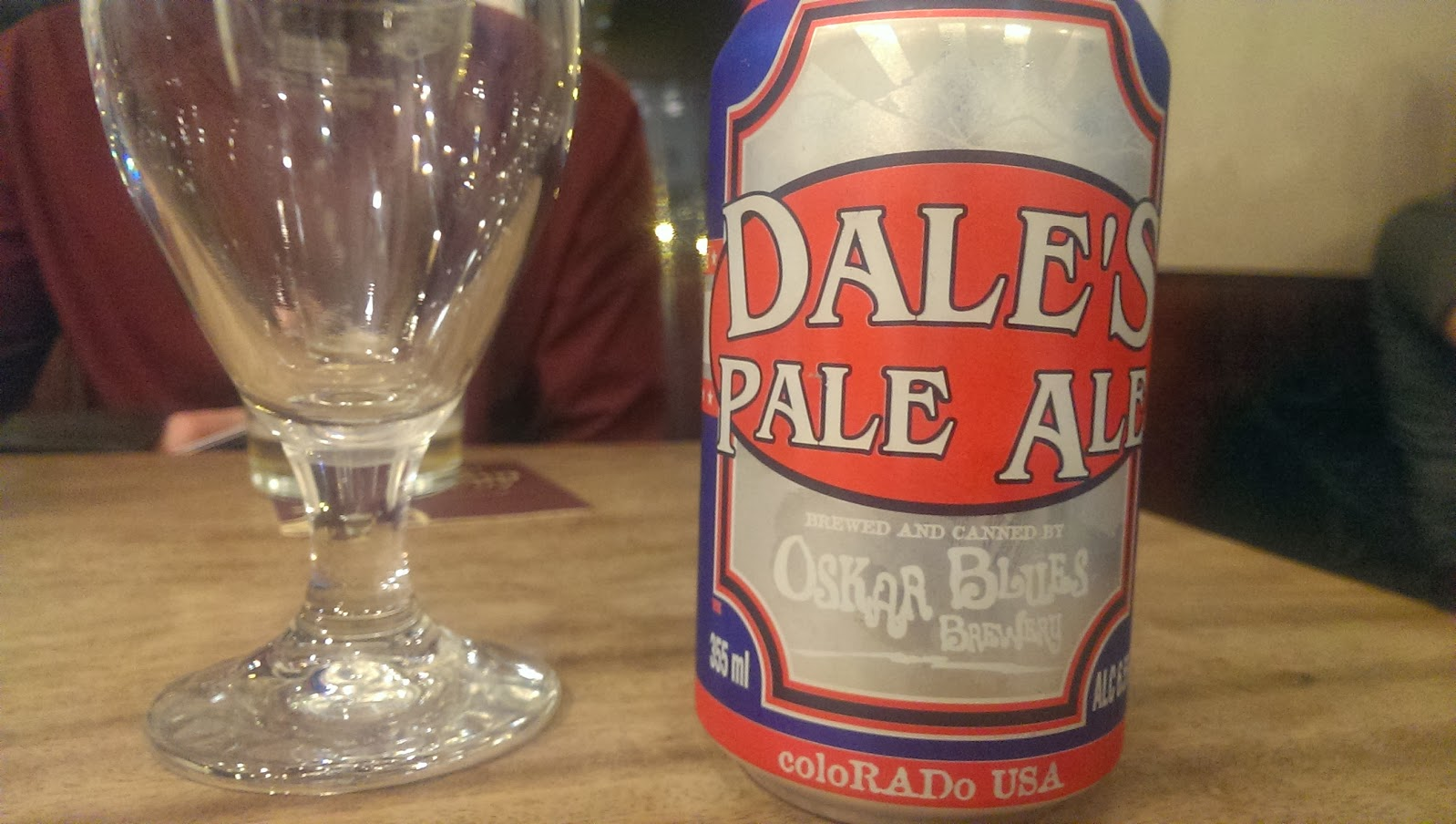 I drank yet more Dale's Pale Ale from Oskar Blues Brewery but this time in the absolutely fantastic, The Grove in Huddersfield. One of the best pub for beer choice that I have ever seen.