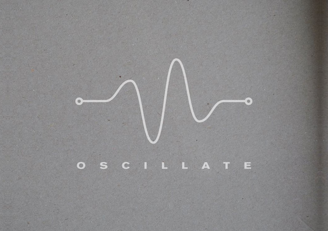 Oscillate at about blank