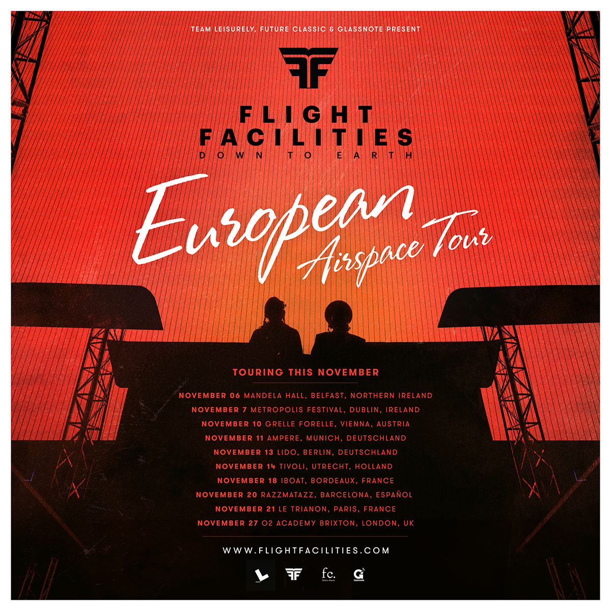 flight facilities european tour poster